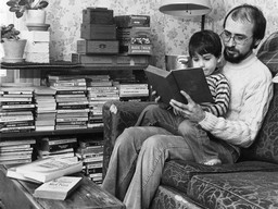 Father Reading to Son
