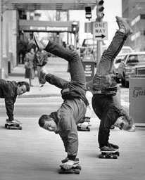 Skateboard Handstands