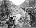 Excavation for New York City Subway