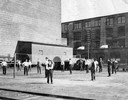 Volleyball Match outside Deering Works and Twine Mill