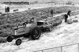 Farmall 460 Tractor Preparing Field for NFL Championship Game