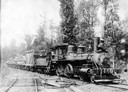 Steam Locomotive Loaded with Logs