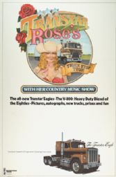 Transtar Rose's Truck Stop Tour Advertising Poster