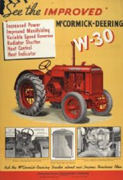 W-30 Tractor Advertising Poster