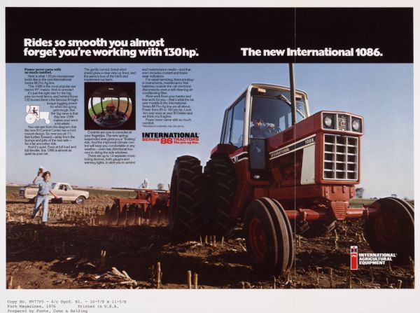 1086 Ih Plowing : Tractor of the week international to