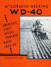 McCormick-Deering WD-40 Diesel Powered Wheel Tractor Booklet