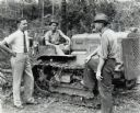 Three Men with T-20 TracTracTor