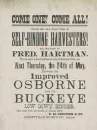 Self-Binding Harvester Field Trial Handbill