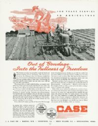 Case Centennial Magazine Advertisement