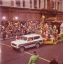 Truck Towing Float in Thanksgiving Parade