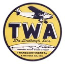 TWA Baggage Sticker