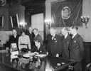 La Follette Signing Unemployment Bill