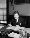 Philip F. La Follette Signing Gas Tax Bill