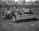Casket and Flowers at Cemetery