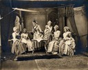 Studio Tableau of Martha Washington's Tea Party