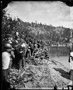 Men on Bank of Devil's Lake