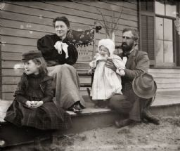 Dr. Edward A. Bass Family on Porch