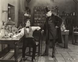 Scene Still of John Barrymore and Brandon Hurst in <i>Dr. Jekyll and Mr. Hyde</i>