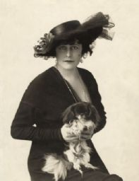 Kitty Gordon and her Pekingese