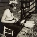 Myles Horton with Typewriter