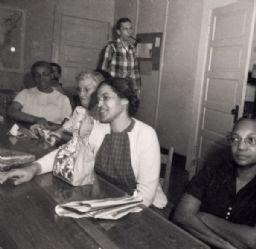 Rosa Parks at Clinton Students Gathering