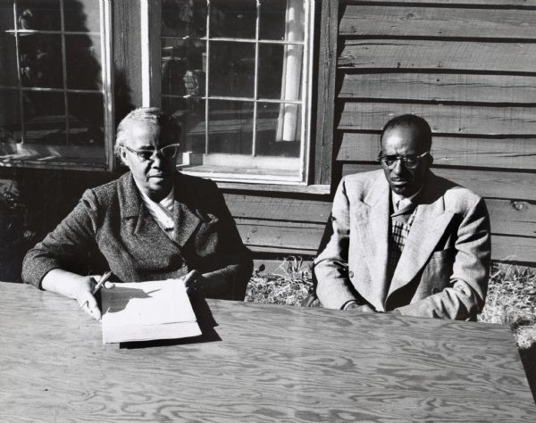 Septima Clark at Highlander Folk School, undated, Highlander Research and Education Center Records, WHS