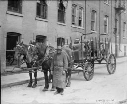 African American Man with Horse-Drawn Cart