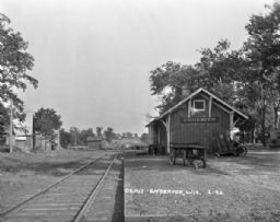Depot and Railroad Tracks