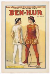 Messala and Ben Hur Quarreling in a Poster for 