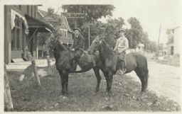 Two Young Men on Horseback