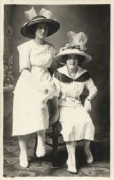 Studio Portrait of Two Women