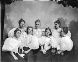 Studio Portrait of Seven Women