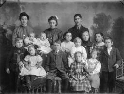 Studio Portrait of Large Group of Children and Adults