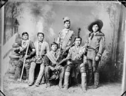 Studio Portrait of Six Native American Men