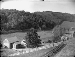 Elevated View of Farm Buildings
