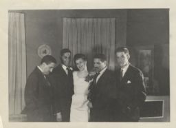 Bride with Groom and His Brothers