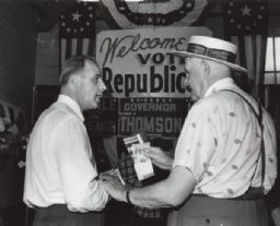 Gaylord Nelson Campaigning at Wisconsin State Fair