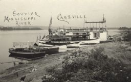 Boats Along Shore of the Mississippi River