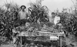 Farm Family with Copious Produce