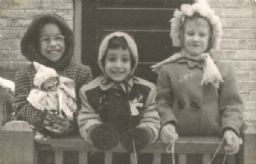 Griggs Album: Three Girls in Winter Jackets