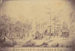 Camp of the 15th Regiment of the Wisconsin Volunteer Infantry