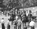 Berkshire Strike  Pickets and Police on Horses
