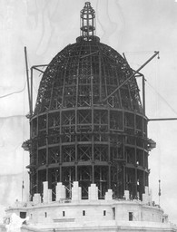 Wisconsin State Capitol under construction