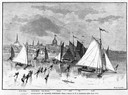 Iceboats and Ice Skaters