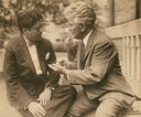 Robert M. La Follette, Jr. and his father, Robert M. La Follette, Sr.