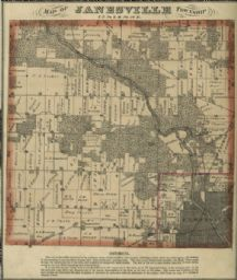 Map of Janesville Township, WHi-38881janesville township