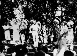 Charles E. Brown with Ho-Chunk Chiefs