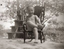 Everetta Bass Sitting in Rocking Chair