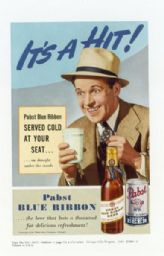 Advertisement for Pabst Blue Ribbon Beer
