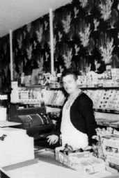 Walter Peltz in his Grocery Store